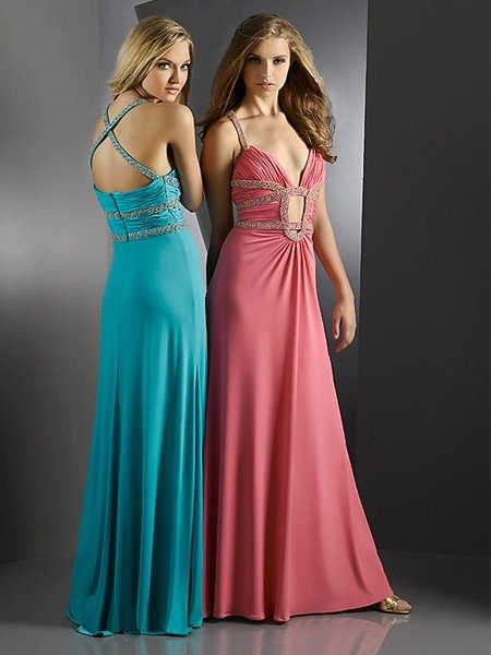 Elegant Pink Spaghetti Straps V Neck Pleated Evening Dress Cocktail Prom Bridesmaid Wedding