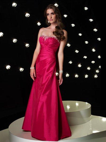 Hot Sale Sexy Strapless Beading Empire Waist Evening Dress Cocktail Prom Bridesmaid Wedding