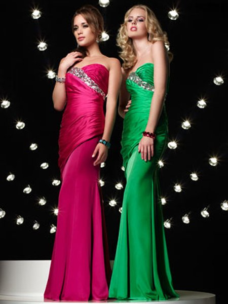 Elegant Sweetheart Strapless Ruffles Beading Evening Dress Cocktail Prom Bridesmaid Wedding