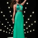 Halter Cutout Rhinestone Spandex Satin Evening Dress Cocktail Prom Bridesmaid Wedding