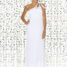 Custom Made Design White One Strap Tube Top Evening Dress Cocktail Prom Bridesmaid Wedding
