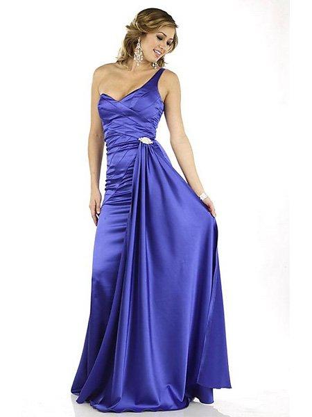Hot Sale Elegant Lavender One Shoulder Sweetheart Evening Dress Cocktail Prom Bridesmaid Wedding