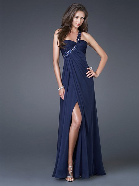 A3 Hot Sale Elegant Hunter One Strap Sweetheart Evening Dress Cocktail Prom Bridesmaid Wedding