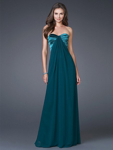 Hot Sale Elegant Dark Green Strapless Tube Top Evening Dress Formal Cocktail Prom Bridesmaid Wedding