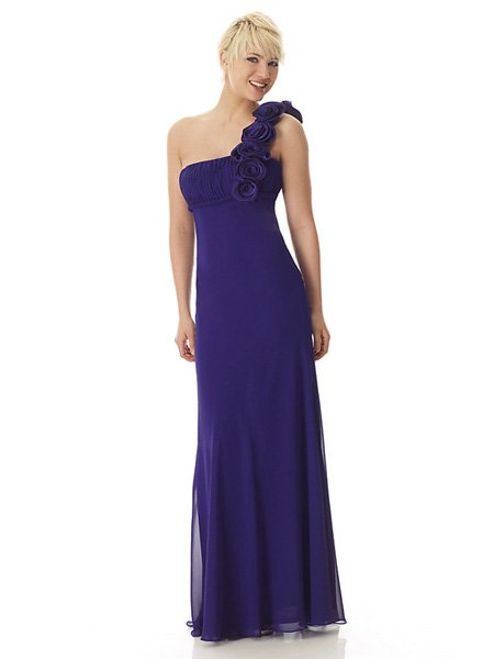 Hot Sale Elegant Purple One Strap Tube Top Evening Dress Formal Cocktail Prom Bridesmaid Wedding