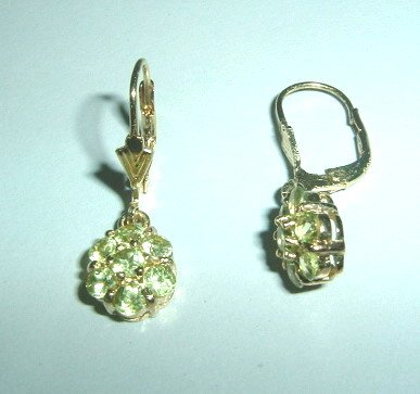 Beautiful Peridot Earrings