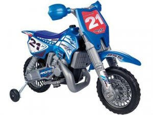 Kids Dirt Bike With Helmet Febercross 6v Ride on Motorcycle
