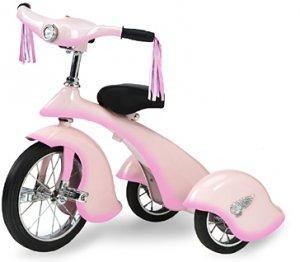 Girls Pink Fairy Retro Tricycle With Working Light Replica of 1934 Van Doren