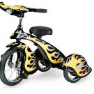 Morgan Cycle Black Hot Rod Tricycle With Working Light