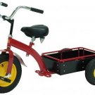Tricycle Red Pick-up Ranch Ride on Toy With Wooden Bed & All-terrain Tire