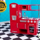 Girls Red Vintage Kitchen Pretend Play Toy For Kids 3+ By KidKraft 53173