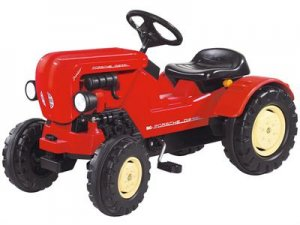 Porsche Diesel Junior Kids Pedal Tractor Ride on Toy Red Pedal Car