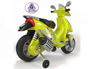 Scooter Duo Green 6v Battery Operated Ride on Toy