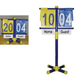 Manual Scorekeeper with Adjustable Stand Great for Outdoors Sports