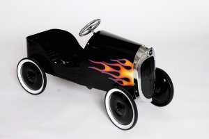 BLACK HOT ROD PEDAL CAR FOR KIDS OR COLLECTOR 1934 REPLICA