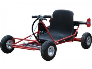 Red Solar Electric 24v Go Kart With Steel Frame By MotoTec Max Rider Weight 150 lbs