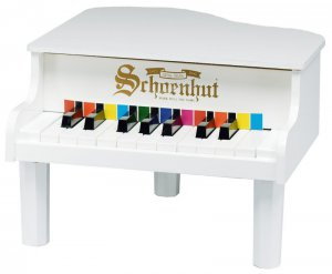 Schoenhut White Toddler Size Mini Grand Piano 189W Kids Musical instrument