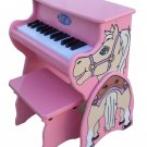 25 Key Horse Piano With Bench Schoenhut Kids Musical Instrument 9258H