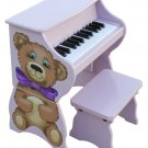 25 Key  Teddy Bear  Piano Pal With Bench Schoenhut Kids Musical Instrument 9258H