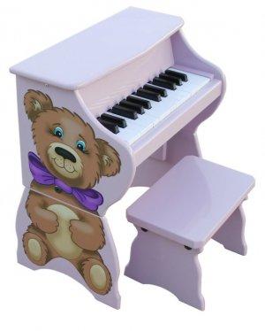 25 Key  Teddy Bear  Piano Pal With Bench Schoenhut Kids Musical Instrument 9258H