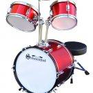 Schoenhut Kids Drum Set With Hardwood Shells Seat Tuning Key & Sticks # C1020