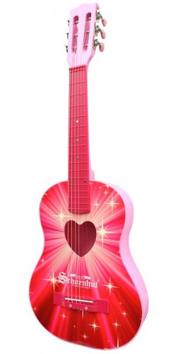 Girls Pink Starburst Acoustic Guitar W Bag Extra String & Pick 605SB By Schoenhut