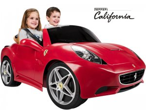 Red Ferrari California 12v  Battery Operated 2 Seat Ride On on Toy for Kids