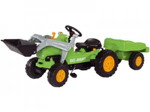 Kids Pedal Tractor Truck With Loader & Trailer Ride on Toy