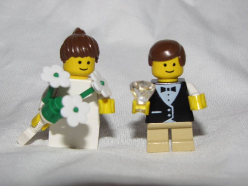 Lego RING BEARER & FLOWER GIRL Wedding Minifigs bride