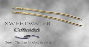 "Sweetwater Pair 5"" 9999 1mm 24ct Fine Gold Wire Colloidal Gold"