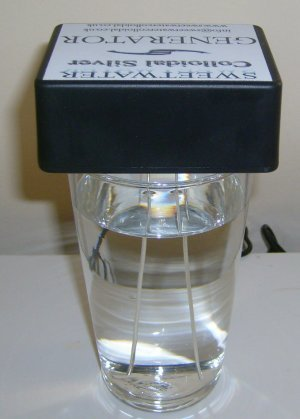 """NEW Sweetwater Colloidal Silver Mains Generator 5"""" Silver Rods"""