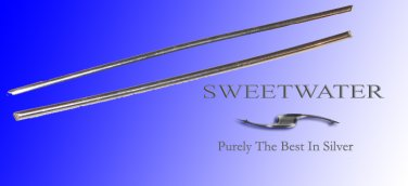 """Sweetwater Colloidal 1.4mm  5"""" 99.99 Pure Silver Wire Rods"""