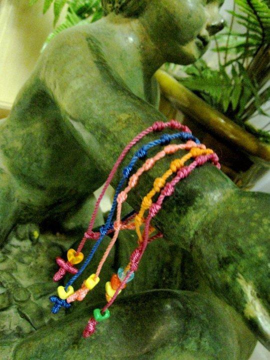 Adjustable String Rosary Bracelets