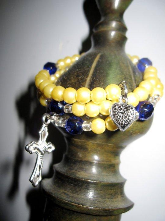 Wrapped Prayers - Rosary Bracelet