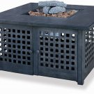UniFlame Outdoor LP Gas Fire Pit with Ceramic Tile Table