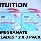 Schick - Intuition (6 Blades, 2 x 3 Pack) Pomegranate
