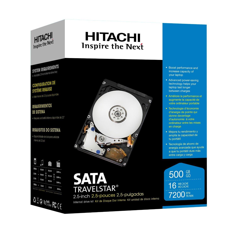 "Hitachi 2.5"" SATA 500 GB Internal Hard Drive 7200 rpm"