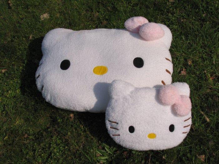 Sanrio Hello Kitty head plush cushion (large)