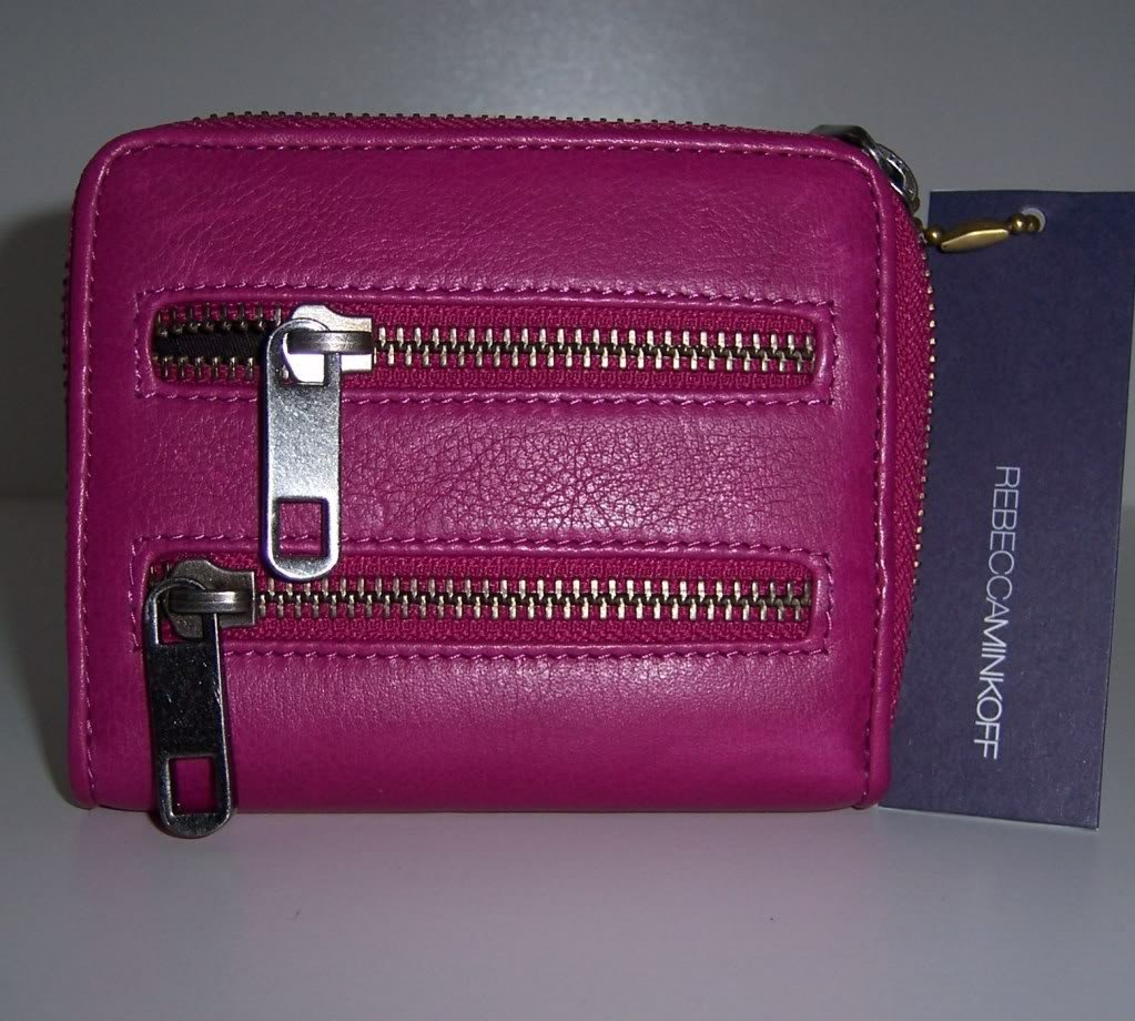 $125 REBECCA MINKOFF Small Zip Wallet -Electric Fuchsia NWT