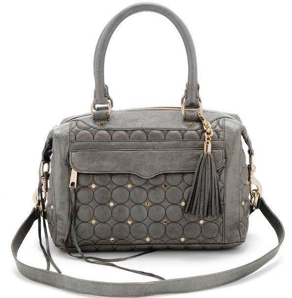$550 REBECCA MINKOFF Morning After Mini Quilted MAB MAM in Pearl Grey NWT
