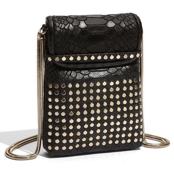 $145 REBECCA MINKOFF Tart Pouch/ Crossbody Bag -Black Alligator NWT