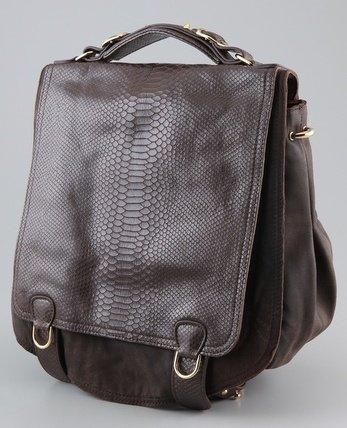 $595 CC Skye ONIE Messenger Bag in Brown Python NWT