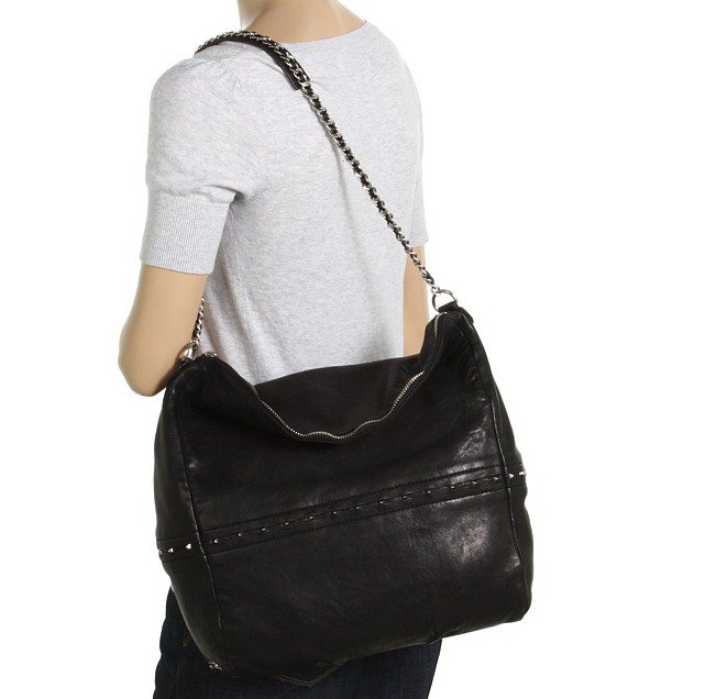 $595  Botkier Bleeker Hobo in Black Lambskin NWT