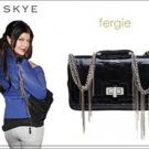 $540  CC Skye  Bridgette Bag in Black Lizard-Print  Leather NWOT -Fergie