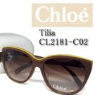 $239 Chloe Tilia CL2181A C02 Sunglasses Brown Authentic NWT