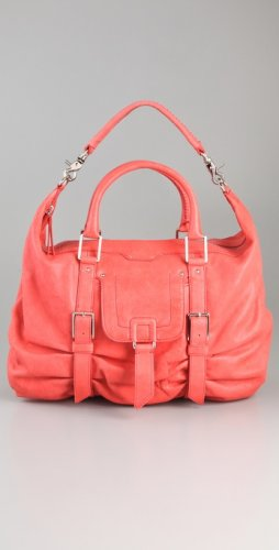 46ebc706474  635 Botkier SASHA medium duffle LEATHER Bag in Coral NWT