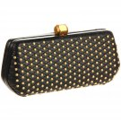 $350 Rebecca Minkoff Small Quilt & Stud  FLING  Clutch  in Black  NWT