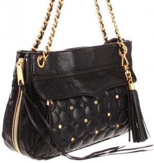 90703c4b8fac  398 Rebecca Minkoff SWING Circle Quilt Bag in Charcoal NWT