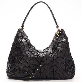 $695  Botkier SEBASTIAN Woven Leather Hobo - Black Cowhide  -YouTube NWT
