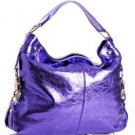 $545 REBECCA MINKOFF Mini NIKKI Hobo Bag in Metallic Purple NWOT
